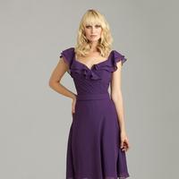 Ruffled Wedding Dresses, Fashion, Bridesmaid, Cap sleeves, Allure Bridals, Ruffles, Ruching