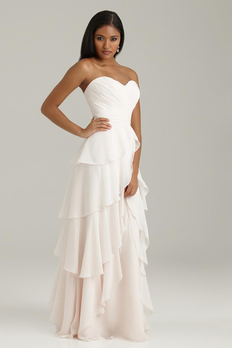 Bridesmaids, Bridesmaids Dresses, Sweetheart Wedding Dresses, Ruffled Wedding Dresses, Fashion, Long, Sweetheart, Allure Bridals, Chiffon, Ruffles, Chiffon Wedding Dresses
