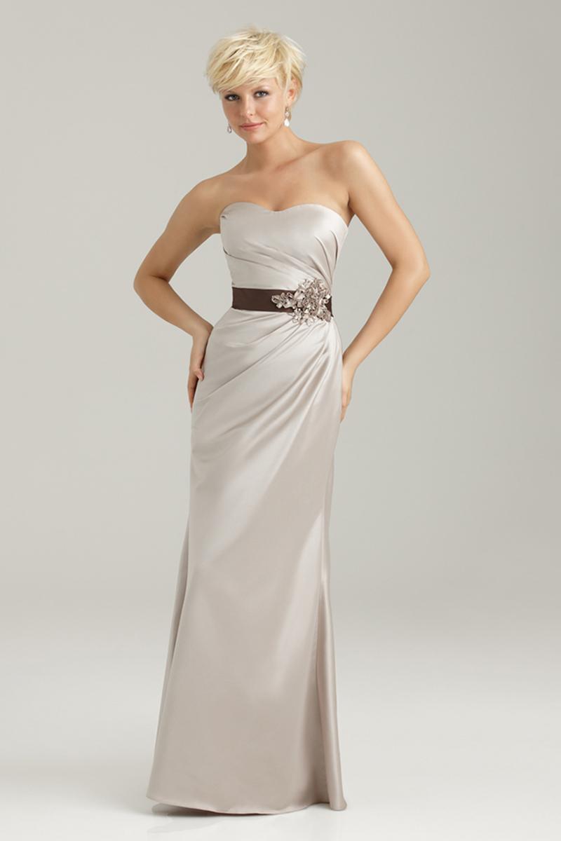 Bridesmaids, Bridesmaids Dresses, Fashion, Long, Beading, Allure Bridals, Satin, Beaded Wedding Dresses, satin wedding dresses