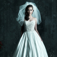 Wedding Dresses, Fashion, Strapless, Strapless Wedding Dresses, Allure Bridals, Embroidery, Swarovski crystals