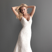 Wedding Dresses, Lace Wedding Dresses, Fashion, Lace, V-neck, V-neck Wedding Dresses, Buttons, Allure Bridals