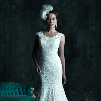 Wedding Dresses, Lace Wedding Dresses, Fashion, Lace, Fit and flare, Allure Bridals, Embroidery, chapel train