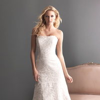 Wedding Dresses, A-line Wedding Dresses, Lace Wedding Dresses, Fashion, Lace, Strapless, Strapless Wedding Dresses, A-line, Allure Bridals, scooped neck