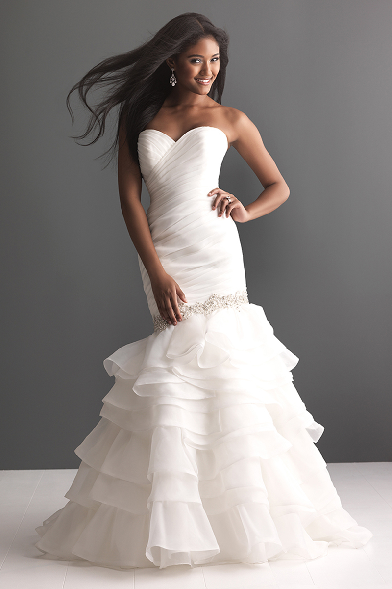 Wedding Dresses, Sweetheart Wedding Dresses, Fashion, Sweetheart, Fit and flare, Allure Bridals, Swarovski crystals, Organza, organza wedding dresses