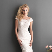 Wedding Dresses, Lace Wedding Dresses, Fashion, Lace, Off the shoulder, Cap sleeves, Allure Bridals, chapel train, scooped neck, Off the Shoulder Wedding Dresses
