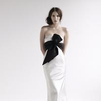 Fashion, Mermaid, Empire, Bow, Silk, amanda garrett, evening gowns, Silk Wedding Dresses