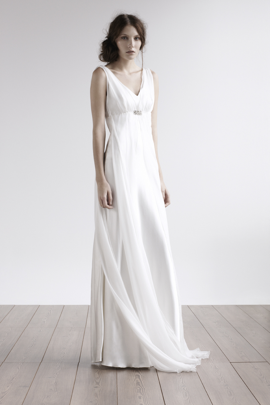Fashion, V-neck, V-neck Wedding Dresses, Chiffon, Silk, Grecian, amanda garrett, evening gowns, Chiffon Wedding Dresses, Silk Wedding Dresses