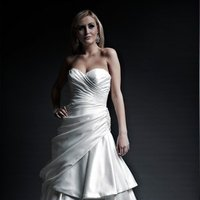Wedding Dresses, Sweetheart Wedding Dresses, A-line Wedding Dresses, Fashion, white, ivory, Modern, Sweetheart, Strapless, Strapless Wedding Dresses, A-line, Beading, Satin, Floor, Formal, Dropped, Pleats, Pick-ups, Sleeveless, Ruching, Angel Rivera, Modern Wedding Dresses, Beaded Wedding Dresses, satin wedding dresses, Formal Wedding Dresses, Floor Wedding Dresses