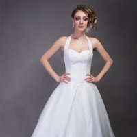 Wedding Dresses, Sweetheart Wedding Dresses, A-line Wedding Dresses, Lace Wedding Dresses, Fashion, white, Spring, Summer, Modern, Lace, Sweetheart, A-line, Halter, Floor, Formal, Organza, Natural, Silk, Modest, Sleeveless, Angel Rivera, Modern Wedding Dresses, halter wedding dresses, organza wedding dresses, Spring Wedding Dresses, Formal Wedding Dresses, Silk Wedding Dresses, Summer Wedding Dresses, Floor Wedding Dresses, Modest Wedding Dresses