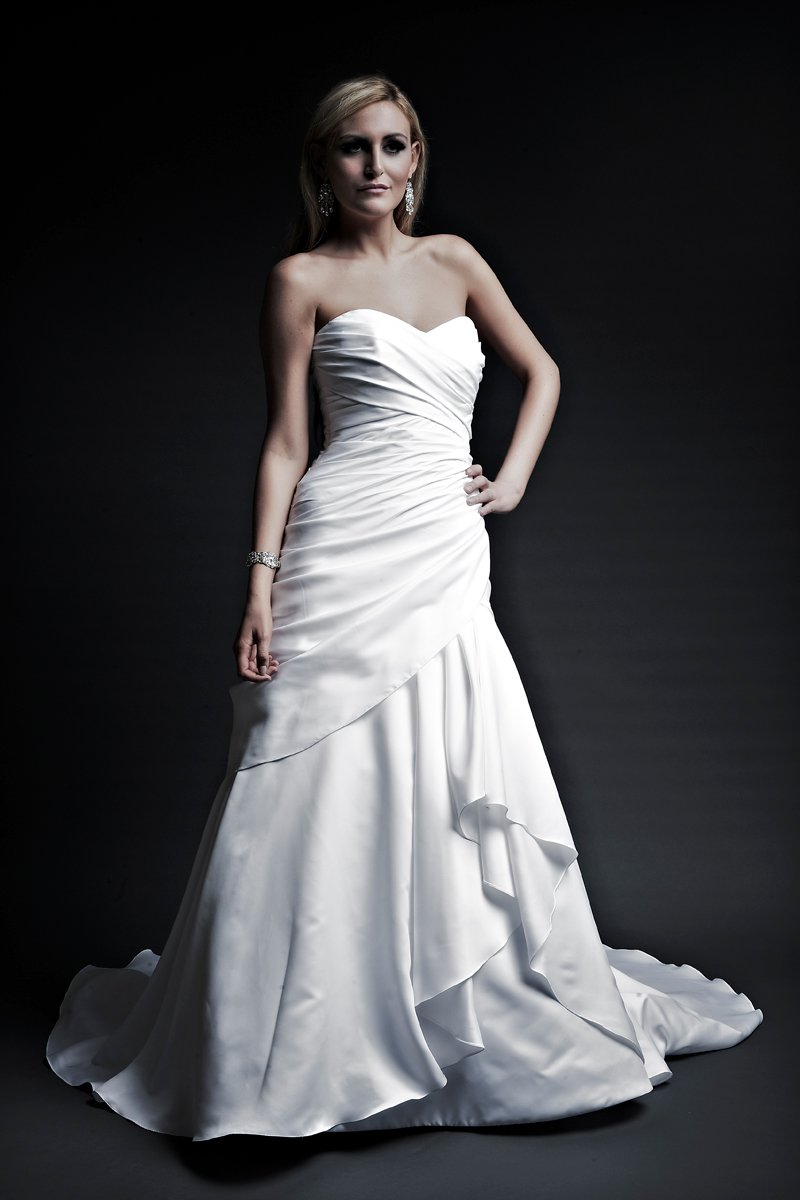 Sweetheart Wedding Dresses, A-line Wedding Dresses, Fashion, white, ivory, Spring, Modern, Sweetheart, A-line, Satin, Floor, Formal, Wedding dress, Dropped, Sleeveless, Ruching, Angel Rivera, stapless, Modern Wedding Dresses, Spring Wedding Dresses, satin wedding dresses, Formal Wedding Dresses, Floor Wedding Dresses