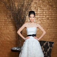 Sweetheart Wedding Dresses, A-line Wedding Dresses, Romantic Wedding Dresses, Fashion, white, ivory, Modern, Flowers, Romantic, Sweetheart, Strapless, Strapless Wedding Dresses, A-line, Short, Tulle, Wedding dress, Organza, Dropped, Informal, Modest, Sleeveless, Angel Rivera, tewa, Short Wedding Dresses, Modern Wedding Dresses, organza wedding dresses, tulle wedding dresses, Flower Wedding Dresses, Informal Wedding Dresses, Modest Wedding Dresses
