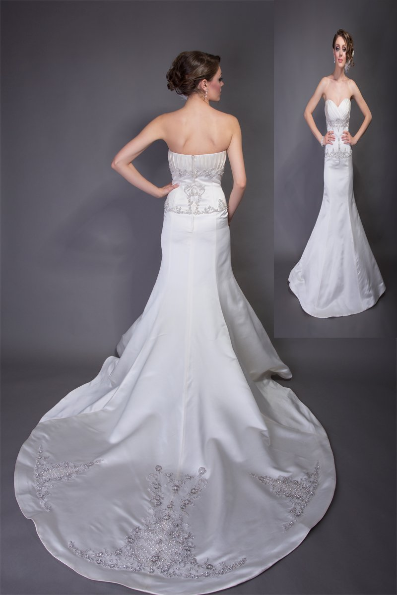 Mermaid Wedding Dresses, Romantic Wedding Dresses, Fashion, Spring, Modern, Romantic, Floor, Formal, Wedding dress, Organza, Silk, Hip, Dropped, Pleats, Sleeveless, Ruching, Mermaid/Trumpet, Angel Rivera, Modern Wedding Dresses, organza wedding dresses, trumpet wedding dresses, Spring Wedding Dresses, Formal Wedding Dresses, Silk Wedding Dresses, Floor Wedding Dresses, Hip Wedding Dresses