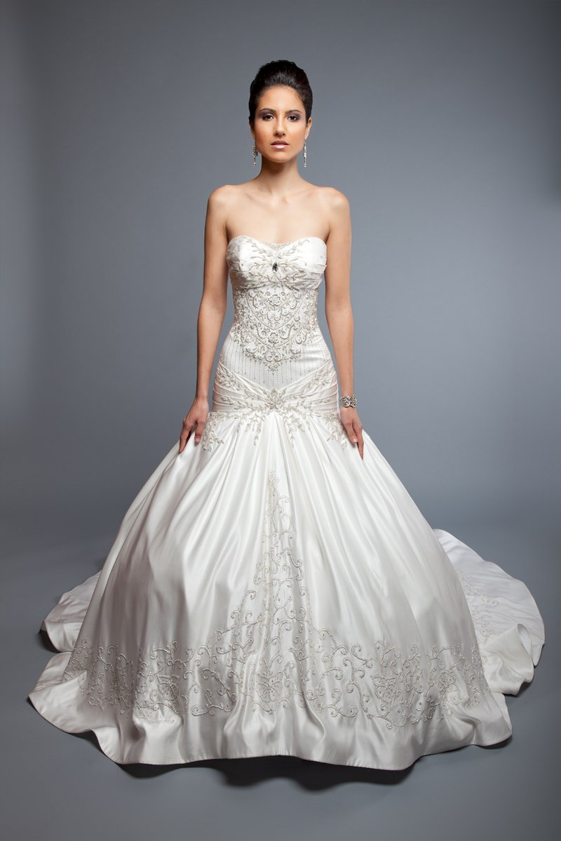 Sweetheart Wedding Dresses, Mermaid Wedding Dresses, Ball Gown Wedding Dresses, Fashion, white, ivory, Modern, Sweetheart, Strapless, Strapless Wedding Dresses, Beading, Satin, Floor, Formal, Wedding dress, Silk, Dropped, Sleeveless, Ball gown, Mermaid/Trumpet, Angel Rivera, Modern Wedding Dresses, Beaded Wedding Dresses, trumpet wedding dresses, satin wedding dresses, Formal Wedding Dresses, Silk Wedding Dresses, Floor Wedding Dresses