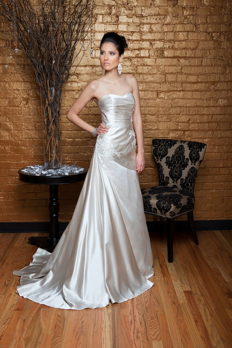 Fashion, white, ivory, Modern, Classic, Square, Strapless, Strapless Wedding Dresses, Beading, Satin, Floor, Formal, Wedding dress, Silk, Dropped, Sleeveless, Ruching, Angel Rivera, Modern Wedding Dresses, Beaded Wedding Dresses, Classic Wedding Dresses, satin wedding dresses, Square Neckline Wedding Dresses, Formal Wedding Dresses, Silk Wedding Dresses, Floor Wedding Dresses