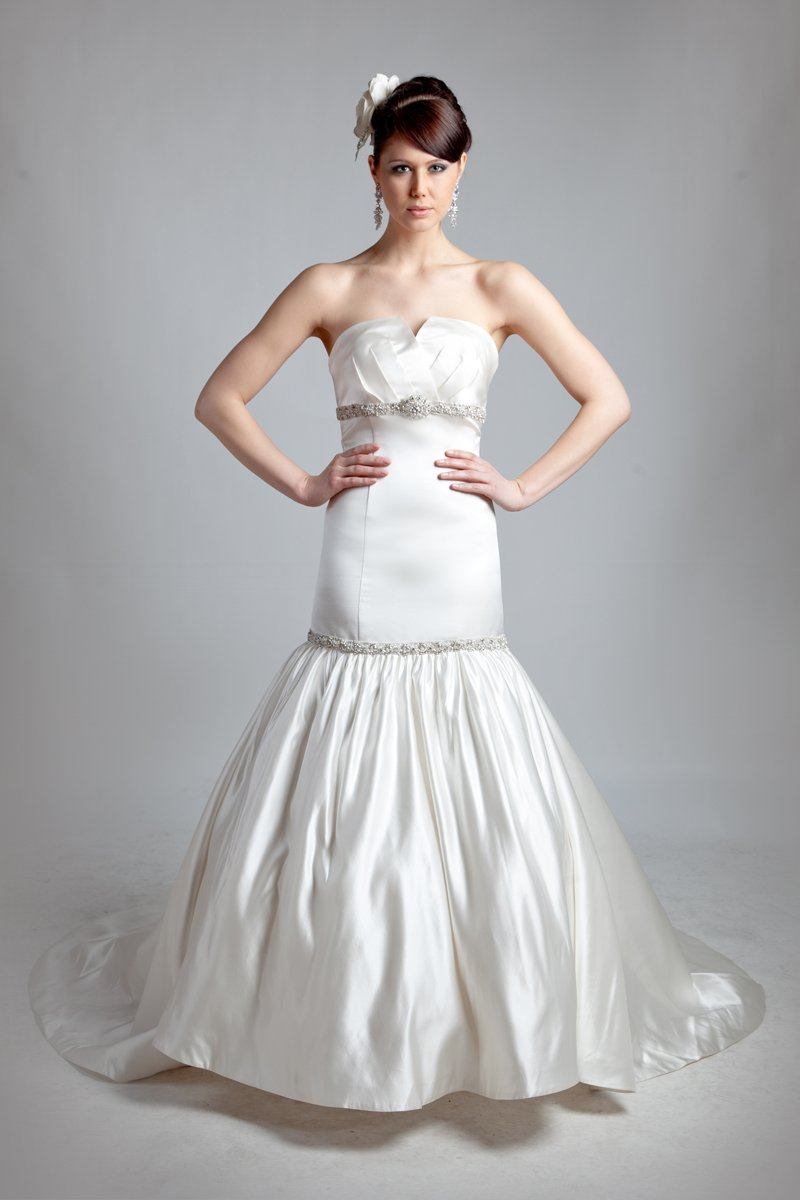 Sweetheart Wedding Dresses, Mermaid Wedding Dresses, Fashion, white, Modern, Sweetheart, Strapless, Strapless Wedding Dresses, Beading, Empire, Floor, Formal, Wedding dress, Silk, Dropped, Sleeveless, Ruching, Mermaid/Trumpet, Angel Rivera, Sash/Belt, Fit-n-Flare, Modern Wedding Dresses, Beaded Wedding Dresses, trumpet wedding dresses, Formal Wedding Dresses, Silk Wedding Dresses, Floor Wedding Dresses, Sash Wedding Dresses, Belt Wedding Dresses