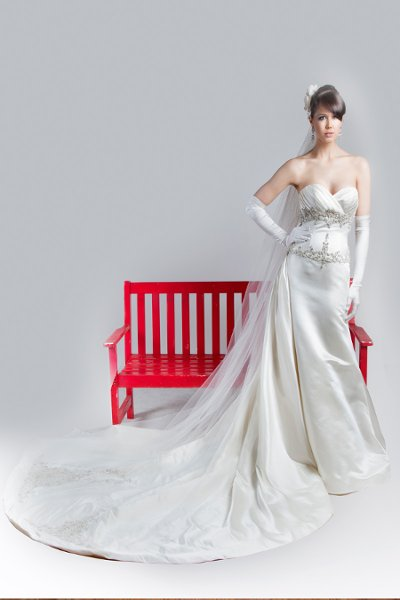 Sweetheart Wedding Dresses, Mermaid Wedding Dresses, Vintage Wedding Dresses, Fashion, white, ivory, Vintage, Modern, Sweetheart, Strapless, Strapless Wedding Dresses, Beading, Satin, Floor, Formal, Wedding dress, Silk, Dropped, Sleeveless, Mermaid/Trumpet, Angel Rivera, Fit-n-Flare, Modern Wedding Dresses, Beaded Wedding Dresses, trumpet wedding dresses, satin wedding dresses, Formal Wedding Dresses, Silk Wedding Dresses, Floor Wedding Dresses
