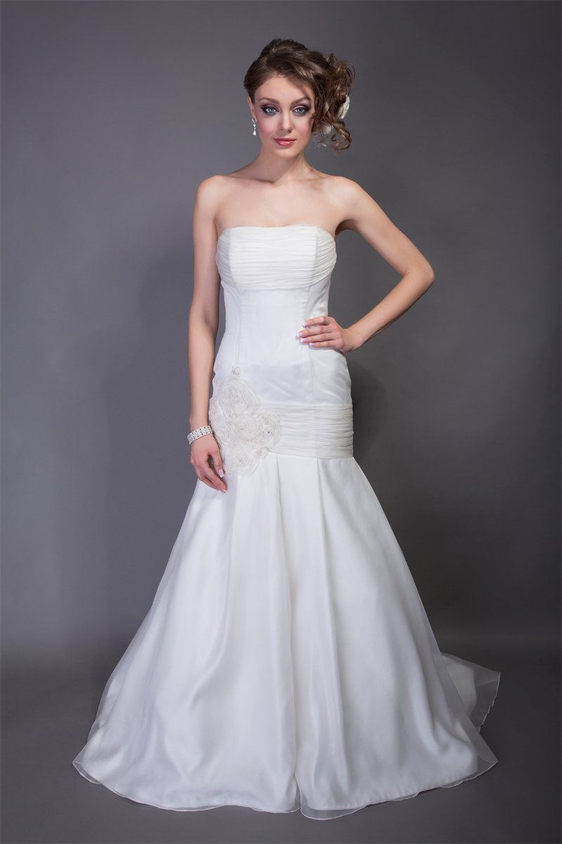 Mermaid Wedding Dresses, Romantic Wedding Dresses, Fashion, white, Spring, Summer, Modern, Flowers, Romantic, Strapless, Strapless Wedding Dresses, Floor, Wedding dress, Organza, Silk, Dropped, Modest, Pleats, Sleeveless, Ruching, Mermaid/Trumpet, Angel Rivera, hip lace, Modern Wedding Dresses, organza wedding dresses, trumpet wedding dresses, Spring Wedding Dresses, Flower Wedding Dresses, Silk Wedding Dresses, Summer Wedding Dresses, Floor Wedding Dresses, Modest Wedding Dresses