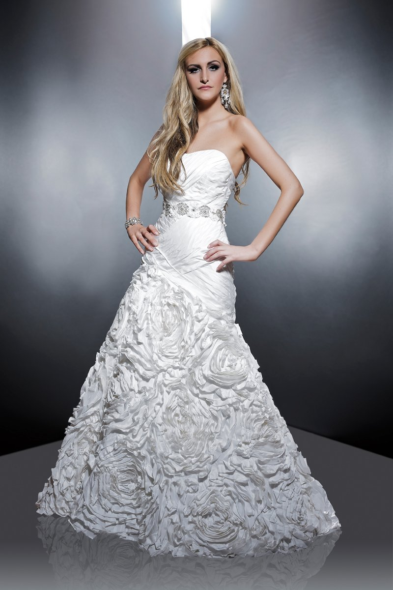 Sweetheart Wedding Dresses, Mermaid Wedding Dresses, Ruffled Wedding Dresses, Romantic Wedding Dresses, Fashion, white, ivory, Modern, Romantic, Sweetheart, Strapless, Strapless Wedding Dresses, Floor, Formal, Wedding dress, Silk, Ruffles, Dropped, Taffeta, Pleats, Sleeveless, Mermaid/Trumpet, Angel Rivera, Sash/Belt, Fit-n-Flare, Modern Wedding Dresses, taffeta wedding dresses, trumpet wedding dresses, Formal Wedding Dresses, Silk Wedding Dresses, Floor Wedding Dresses, Sash Wedding Dresses, Belt Wedding Dresses