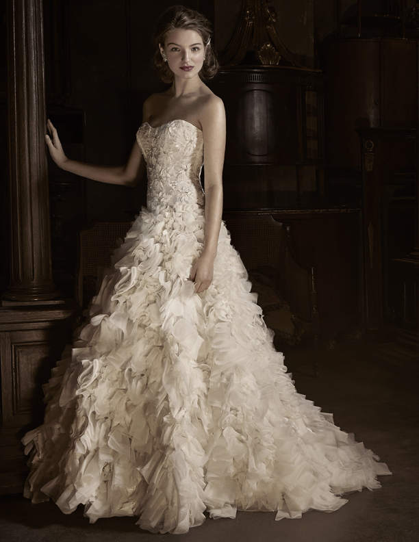 Wedding Dresses, Ball Gown Wedding Dresses, Fashion, Anne barge, Strapless, Strapless Wedding Dresses, Beading, Tulle, Embroidery, Organza, Ball gown, Beaded Wedding Dresses, organza wedding dresses, tulle wedding dresses