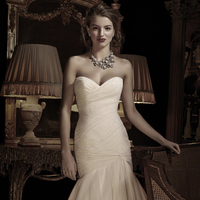 Wedding Dresses, Fashion, Anne barge, Strapless, Strapless Wedding Dresses, Tulle, pleating, tulle wedding dresses