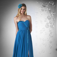 blue, Spring, Summer, Fall, Modern, Boho Chic, Romantic, Sweetheart, Strapless, A-line, Floor, Chiffon, Formal, Natural, Ruffles, Hip, Sleeveless, Bari Jay Bridesmaids, bridesmaid fashion, ffashion