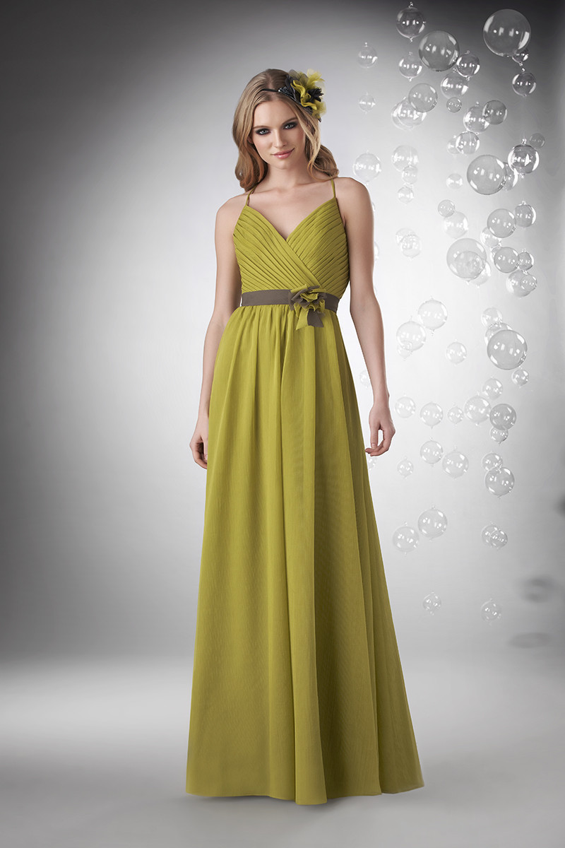 Bridesmaid Dresses, A-line Wedding Dresses, Romantic Wedding Dresses, Fashion, green, brown, Spring, Summer, Modern, Boho Chic, Romantic, A-line, Spaghetti straps, V-neck, V-neck Wedding Dresses, Floor, Chiffon, Formal, Natural, Sleeveless, Ruching, Bari Jay Bridesmaids, Modern Wedding Dresses, Boho Chic Wedding Dresses, Spring Wedding Dresses, Spahetti Strap Wedding Dresses, Chiffon Wedding Dresses, Formal Wedding Dresses, Summer Wedding Dresses, Floor Wedding Dresses