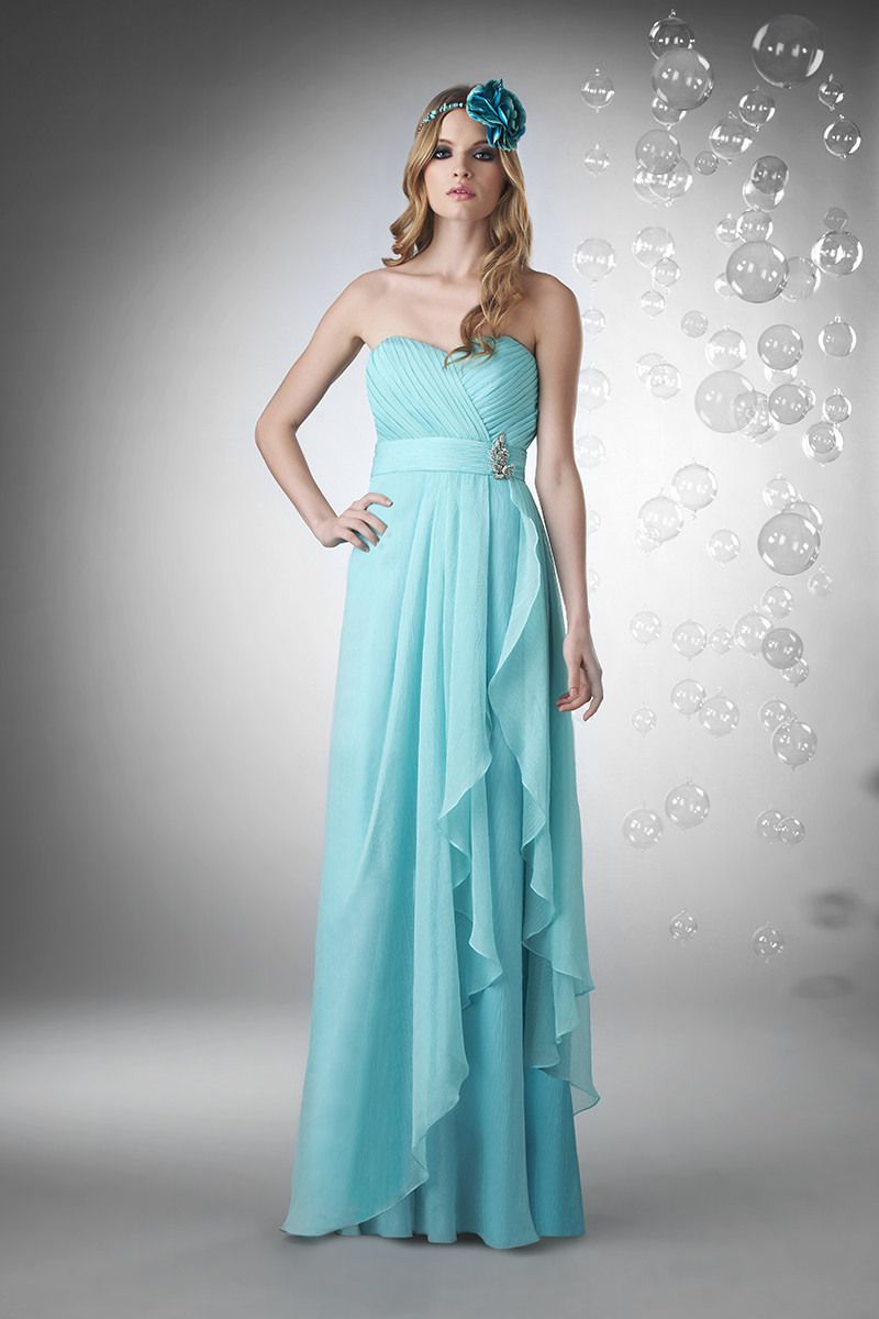 Bridesmaid Dresses, Sweetheart Wedding Dresses, A-line Wedding Dresses, Fashion, blue, Modern, Sweetheart, Strapless, Strapless Wedding Dresses, A-line, Floor, Chiffon, Formal, Tiers, Hip, Modest, Sleeveless, Ruching, Sash/Belt, Bari Jay Bridesmaids, Modern Wedding Dresses, Chiffon Wedding Dresses, Formal Wedding Dresses, Floor Wedding Dresses, Modest Wedding Dresses, Hip Wedding Dresses, Sash Wedding Dresses, Belt Wedding Dresses, Tiered Wedding Dresses