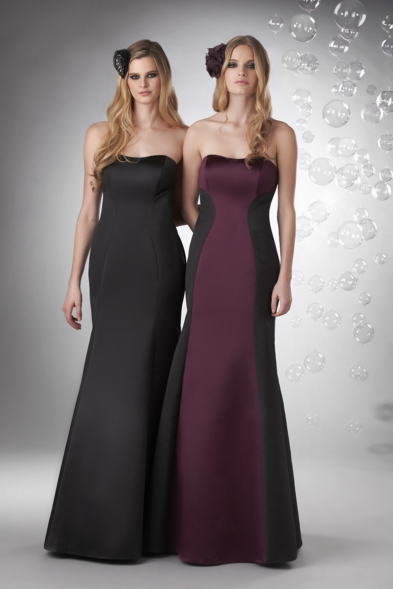 Bridesmaid Dresses, Mermaid Wedding Dresses, Fashion, purple, black, Spring, Summer, Fall, Winter, Modern, Classic, Strapless, Strapless Wedding Dresses, Satin, Floor, Formal, Natural, Modest, Sleeveless, Fit-n-Flare, Bari Jay Bridesmaids, Modern Wedding Dresses, Spring Wedding Dresses, Classic Wedding Dresses, winter wedding dresses, satin wedding dresses, Fall Wedding Dresses, Formal Wedding Dresses, Summer Wedding Dresses, Floor Wedding Dresses, Modest Wedding Dresses