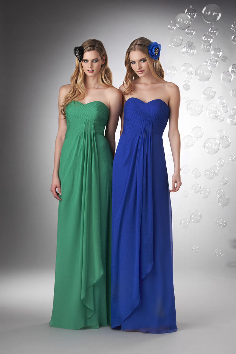 Bridesmaid Dresses, Sweetheart Wedding Dresses, A-line Wedding Dresses, Romantic Wedding Dresses, Fashion, blue, green, Spring, Summer, Modern, Romantic, Sweetheart, Strapless, Strapless Wedding Dresses, A-line, Floor, Chiffon, Formal, Natural, Informal, Sleeveless, Ruching, Bari Jay Bridesmaids, Modern Wedding Dresses, Spring Wedding Dresses, Chiffon Wedding Dresses, Formal Wedding Dresses, Summer Wedding Dresses, Informal Wedding Dresses, Floor Wedding Dresses