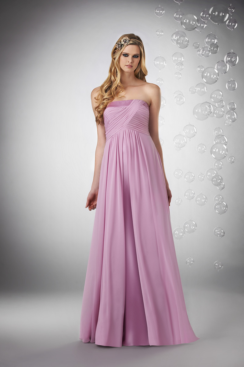 Bridesmaid Dresses, A-line Wedding Dresses, Romantic Wedding Dresses, Fashion, pink, Spring, Summer, Modern, Romantic, Strapless, Strapless Wedding Dresses, A-line, Floor, Chiffon, Formal, Natural, Modest, Sleeveless, Ruching, Bari Jay Bridesmaids, Modern Wedding Dresses, Spring Wedding Dresses, Chiffon Wedding Dresses, Formal Wedding Dresses, Summer Wedding Dresses, Floor Wedding Dresses, Modest Wedding Dresses