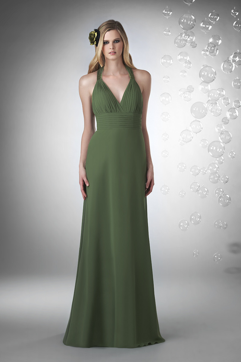 Bridesmaid Dresses, A-line Wedding Dresses, Romantic Wedding Dresses, Fashion, green, Spring, Summer, Fall, Winter, Modern, Classic, Romantic, A-line, V-neck, V-neck Wedding Dresses, Floor, Chiffon, Formal, Natural, Sleeveless, Ruching, Bari Jay Bridesmaids, Modern Wedding Dresses, Spring Wedding Dresses, Classic Wedding Dresses, winter wedding dresses, Fall Wedding Dresses, Chiffon Wedding Dresses, Formal Wedding Dresses, Summer Wedding Dresses, Floor Wedding Dresses