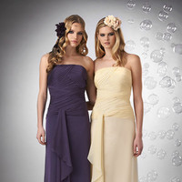 Bridesmaid Dresses, A-line Wedding Dresses, Ruffled Wedding Dresses, Romantic Wedding Dresses, Beach Wedding Dresses, Fashion, yellow, purple, Beach, Fall, Modern, Romantic, Strapless, Strapless Wedding Dresses, A-line, Floor, Chiffon, Formal, Natural, Ruffles, Sleeveless, Sash/Belt, Bari Jay Bridesmaids, Modern Wedding Dresses, Fall Wedding Dresses, Chiffon Wedding Dresses, Formal Wedding Dresses, Floor Wedding Dresses, Sash Wedding Dresses, Belt Wedding Dresses