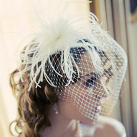 Beauty, Down, Hairpin, Curly Hair, Feathers, Veils