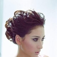 Beauty, Makeup, Updo, Curly Hair, Hair