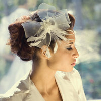Beauty, Updo, Curly Hair, Hairpin, Feathers