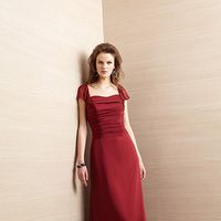 Bridesmaid Dresses, Chiffon, Belsoie, pleating, bridal fashion, flutter sleeves