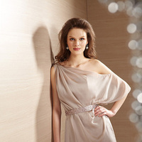 Bridesmaid Dresses, Sweetheart, Chiffon, Belsoie, One-shoulder, bridal fashion