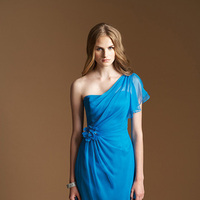 Bridesmaid Dresses, Sheer, Belsoie, One-shoulder, bridal fashion, asymmetrical neckline