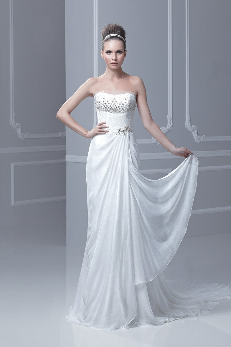 Wedding Dresses, A-line Wedding Dresses, Beach Wedding Dresses, Fashion, ivory, Beach, Summer, Modern, Vineyard, City, Strapless, Strapless Wedding Dresses, A-line, Beading, Floor, Chiffon, Natural, Ruching, Blue by Enzoani, historic site, Modern Wedding Dresses, Beaded Wedding Dresses, Chiffon Wedding Dresses, Summer Wedding Dresses, Floor Wedding Dresses