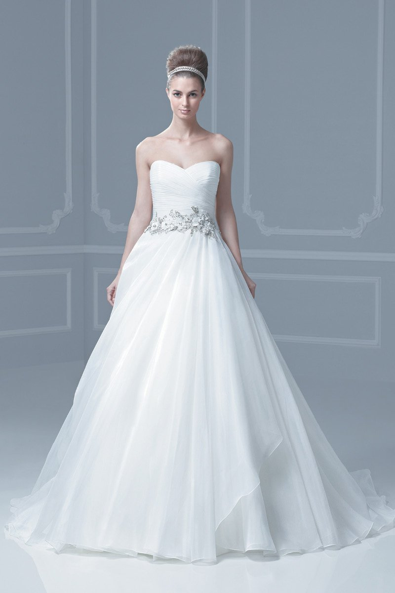 Wedding Dresses, Sweetheart Wedding Dresses, A-line Wedding Dresses, Fashion, ivory, Summer, Modern, Classic, Sweetheart, Strapless, Strapless Wedding Dresses, A-line, Beading, Empire, Floor, Formal, Organza, Ballroom, Museum, Ruching, Sash/Belt, Blue by Enzoani, modern space, Modern Wedding Dresses, Beaded Wedding Dresses, organza wedding dresses, Classic Wedding Dresses, Formal Wedding Dresses, Summer Wedding Dresses, Floor Wedding Dresses, Sash Wedding Dresses, Belt Wedding Dresses