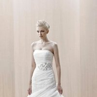 Wedding Dresses, Mermaid Wedding Dresses, Fashion, white, Modern, City, Strapless, Strapless Wedding Dresses, Beading, Tulle, Floor, Formal, Organza, Ballroom, Pick-ups, Ruching, Avant-Garde, Mermaid/Trumpet, Fit-n-Flare, Blue by Enzoani, modern space, Modern Wedding Dresses, Beaded Wedding Dresses, organza wedding dresses, trumpet wedding dresses, tulle wedding dresses, Formal Wedding Dresses, Floor Wedding Dresses