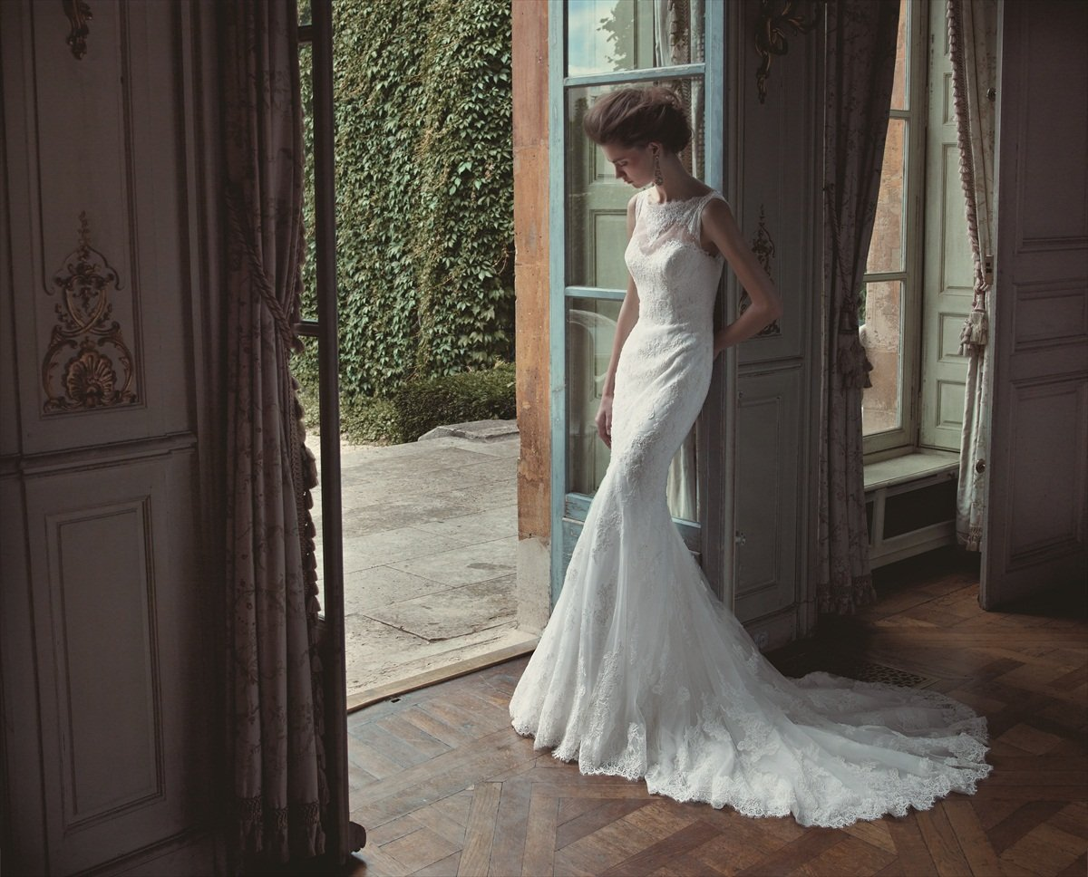 Wedding Dresses, A-line Wedding Dresses, Lace Wedding Dresses, Romantic Wedding Dresses, Fashion, white, ivory, Spring, Summer, Fall, Winter, Modern, Romantic, Lace, A-line, Beading, Floor, Formal, Natural, Sleeveless, high-neck, Blue by Enzoani, Modern Wedding Dresses, Beaded Wedding Dresses, Spring Wedding Dresses, High Neck Wedding Dresses, winter wedding dresses, Fall Wedding Dresses, Formal Wedding Dresses, Summer Wedding Dresses, Floor Wedding Dresses