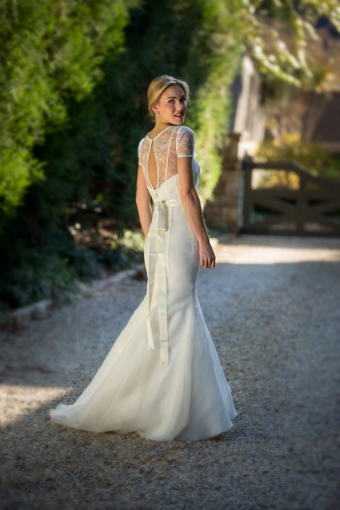 Wedding Dresses, Illusion Neckline Wedding Dresses, Mermaid Wedding Dresses, Lace Wedding Dresses, Fashion, Lace, Anne barge, Sleeves, Jewel, Chiffon, Illusion, Mermaid/Trumpet, short sleeve, trumpet wedding dresses, Chiffon Wedding Dresses, Jewel Wedding Dresses