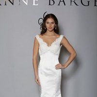 Wedding Dresses, Sweetheart Wedding Dresses, Mermaid Wedding Dresses, Lace Wedding Dresses, Vintage Wedding Dresses, Fashion, white, ivory, Vintage, Lace, Sweetheart, Empire, V-neck, V-neck Wedding Dresses, Satin, Floor, Formal, Modest, Sleeveless, Mermaid/Trumpet, Fit-n-Flare, Blue Willow by Anne Barge, trumpet wedding dresses, satin wedding dresses, Formal Wedding Dresses, Floor Wedding Dresses, Modest Wedding Dresses