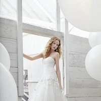Wedding Dresses, Sweetheart Wedding Dresses, Mermaid Wedding Dresses, Lace Wedding Dresses, Romantic Wedding Dresses, Fashion, white, ivory, Flowers, Romantic, Lace, Sweetheart, Strapless, Strapless Wedding Dresses, Floor, Formal, Cotton, Sleeveless, Mermaid/Trumpet, Fit-n-Flare, Jim Hjelm Blush, trumpet wedding dresses, Flower Wedding Dresses, Formal Wedding Dresses, Floor Wedding Dresses, Cotton Wedding Dresses