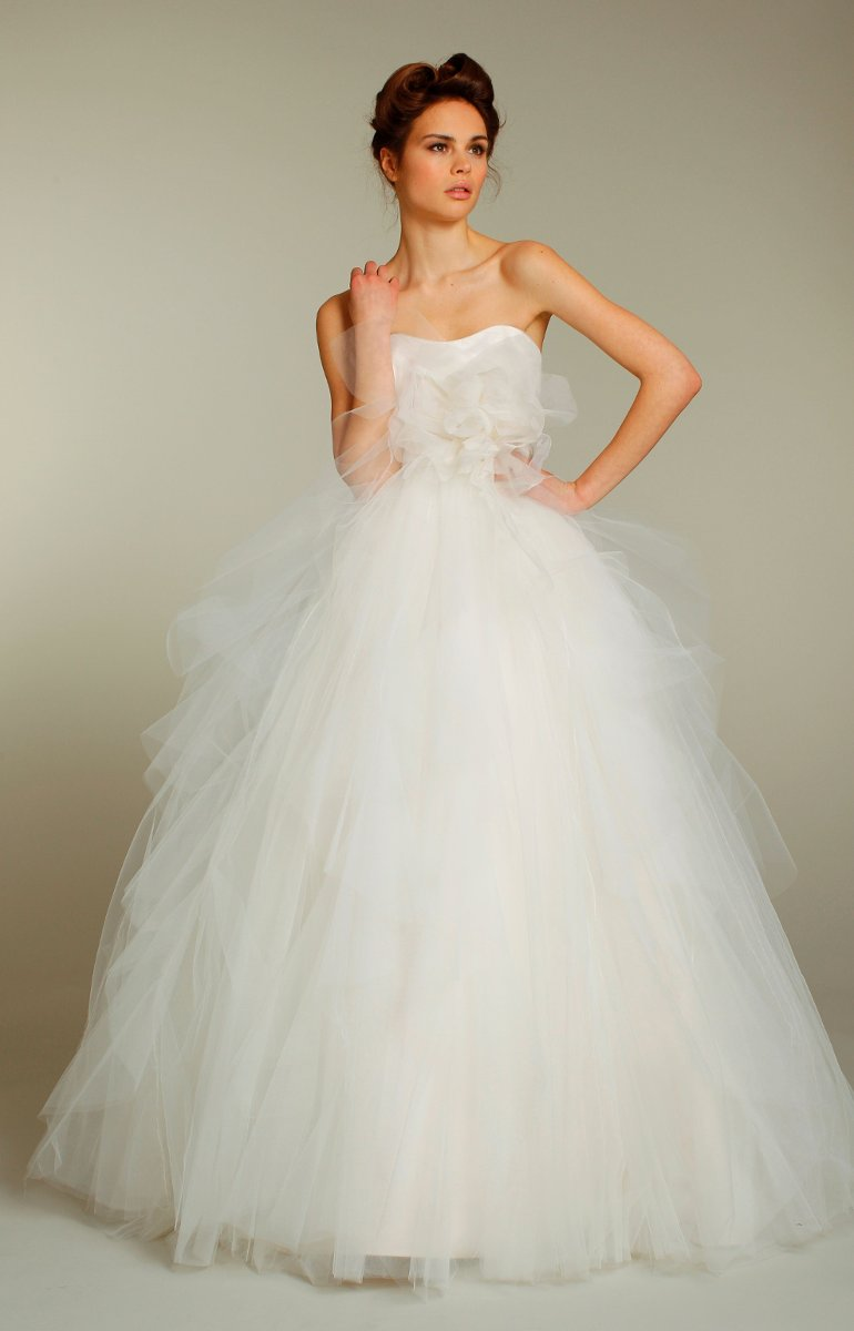 Wedding Dresses, Sweetheart Wedding Dresses, Ball Gown Wedding Dresses, Fashion, white, ivory, Fall, Winter, Flowers, Sweetheart, Strapless, Strapless Wedding Dresses, Tulle, Floor, Natural, Sleeveless, Ball gown, Avant-Garde, Sash/Belt, Jim Hjelm Blush, tulle wedding dresses, winter wedding dresses, Flower Wedding Dresses, Fall Wedding Dresses, Floor Wedding Dresses, Sash Wedding Dresses, Belt Wedding Dresses
