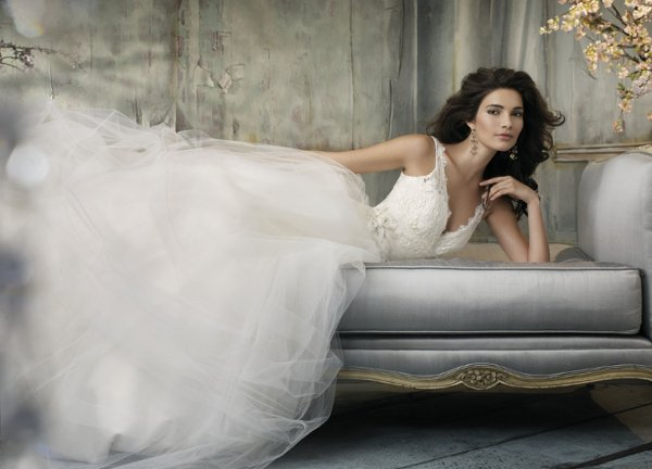 Wedding Dresses, Ball Gown Wedding Dresses, Fashion, white, ivory, Flowers, Shabby Chic, Spaghetti straps, Beading, V-neck, V-neck Wedding Dresses, Tulle, Floor, Sleeveless, Ball gown, Jim Hjelm Blush, Beaded Wedding Dresses, tulle wedding dresses, Flower Wedding Dresses, Spahetti Strap Wedding Dresses, Floor Wedding Dresses, Shabby Chic Wedding Dresses
