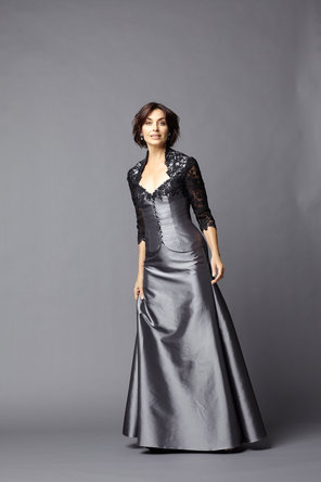 A-line Wedding Dresses, Fashion, Evening Dresses, A-line, Taffeta, C20, floor length, 3/4 Sleeves, bi-color, taffeta wedding dresses