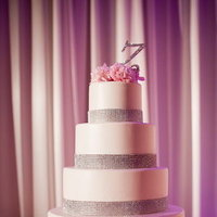 Cakes, Wedding Style, ivory, pink, silver, Glam Wedding Cakes, Round Wedding Cakes, Wedding Cakes, Glam Weddings