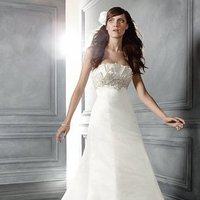 Wedding Dresses, A-line Wedding Dresses, Fashion, ivory, Modern, Strapless, Strapless Wedding Dresses, A-line, Beading, Empire, Floor, Formal, Ballroom, Silk, Museum, Pleats, Cb couture, modern space, Modern Wedding Dresses, Beaded Wedding Dresses, Formal Wedding Dresses, Silk Wedding Dresses, Floor Wedding Dresses